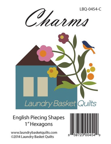 "Charms 1"" Hexagon - Laundry Basket Quilts - Craft de Ville"