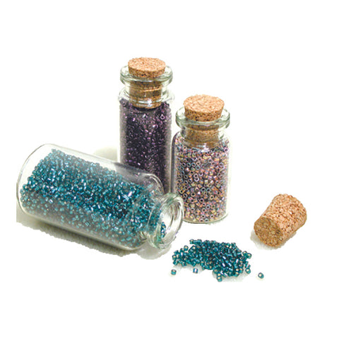 Mini Glass Bottle with Cork - BeadSmith - Craft de Ville
