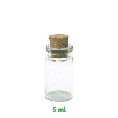 Mini Glass Bottle with Cork