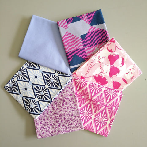 Curated Fat Quarter Bundles - Assorted 6 - Craft De Ville - Craft de Ville