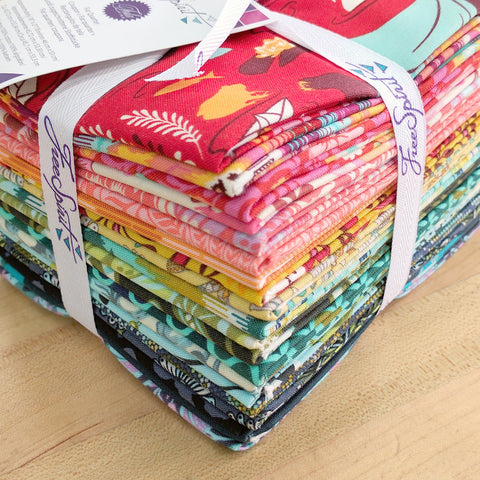 Throw Back Tula - Tula Pink - Fat Quarter Pack - Fabric - Free Spirit - Craft de Ville