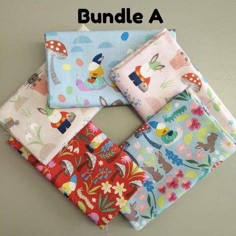 Lewis & Irene - Jolly Spring - Fat Quarter Bundle