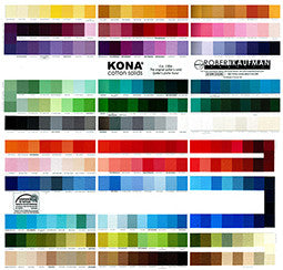 Kona Colour Chart - Quilting - Kona Solids - Craft de Ville