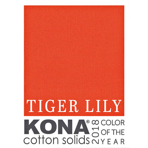 Kona Solid - Tiger Lily