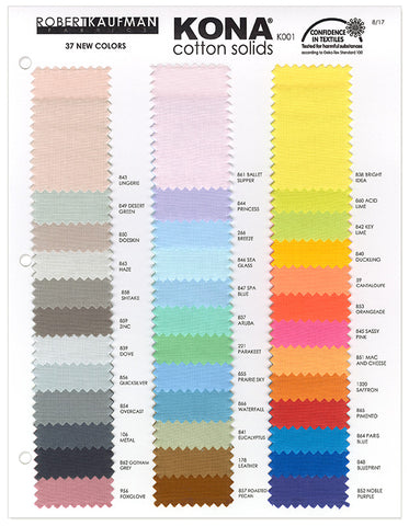 Kona Colour Chart Add-On - Kona Solids - Craft de Ville