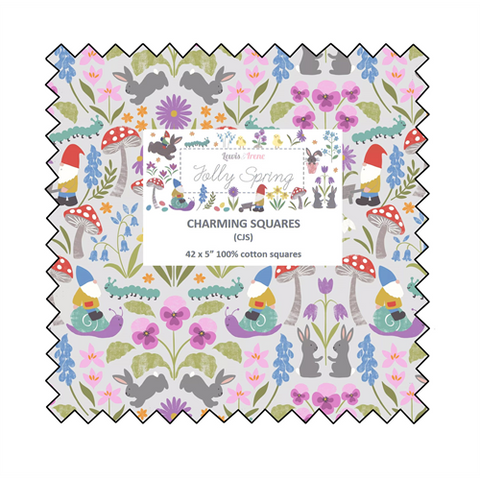 Lewis & Irene - Jolly Spring - 5 inch Charm Pack