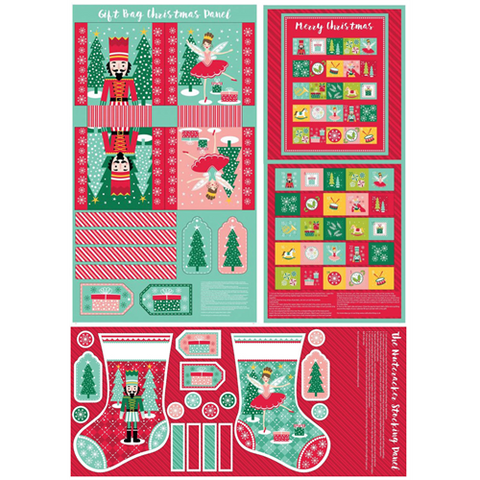 Nutcracker Panel Pack - 3 Christmas Panels