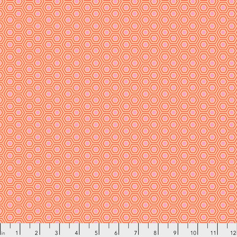 Tula Pink - True Colors - Hexy in Peach Blossom