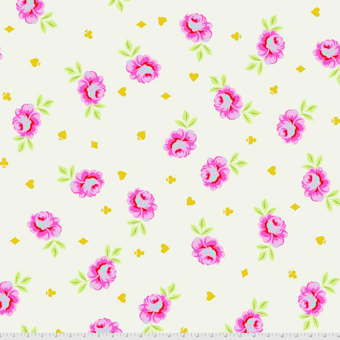 "PREORDER APRIL - Tula Pink - Curiouser & Curiouser - Quilt Backing 108"" Big Buds in Wonder"