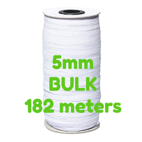 Elastic - White - 5mm - Bulk 180 meters - Pellon - Craft de Ville
