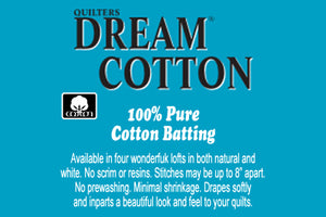 "SPECIAL ORDER - Quilters Dream Cotton Select White - 121"" wide - Full Roll - Quilter's Dream - Craft de Ville"
