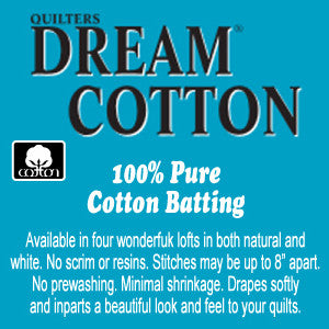 "Quilters Dream Cotton Select Natural - Double - 96"" x 92"" - Quilter's Dream - Craft de Ville"