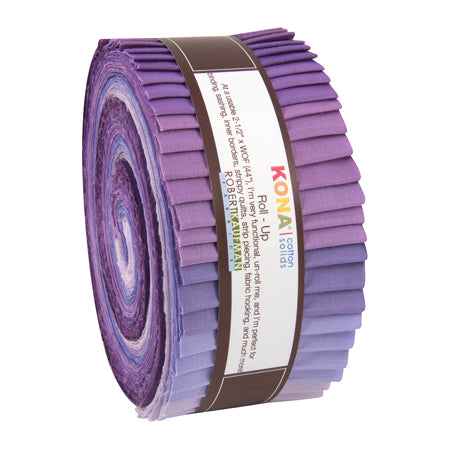 Lavender Fields - Kona Solids Roll Up