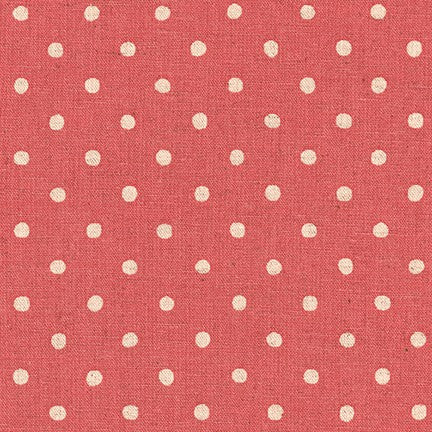Sevenberry Canvas Natural Dots - Rose
