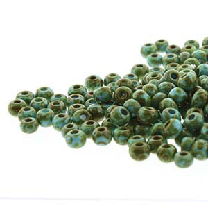 Seedbeads 6/0 - Blue Turquoise with Dark Travertine Finish - Beads & Findings - BeadSmith - Craft de Ville