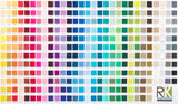 Printed Kona Colour Chart Panel