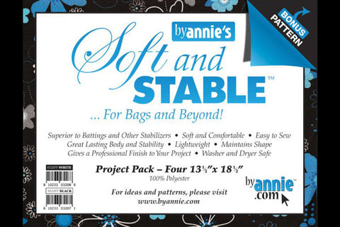 ByAnnie's Soft & Stable Project Pack - Black - 4 pack - Interfacing & Stabilizers - By Annie - Craft de Ville