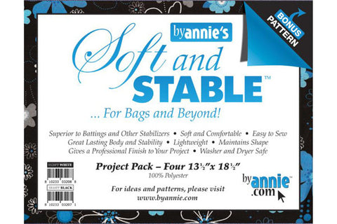 ByAnnie's Soft & Stable Project Pack - White - 4 pack - Interfacing & Stabilizers - By Annie - Craft de Ville