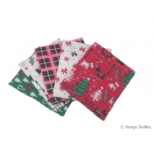 Scotty Dog Christmas - Fat Quarter Bundle