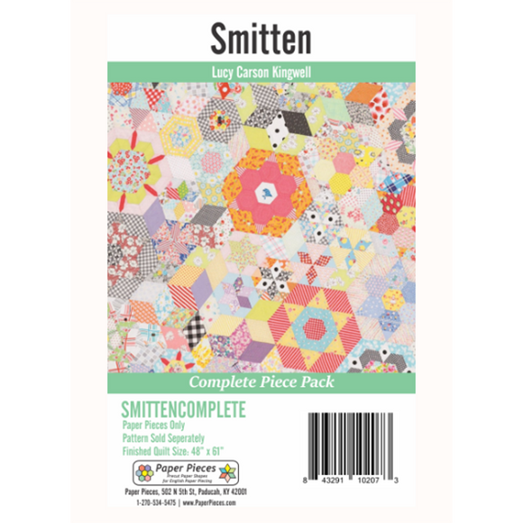 Smitten Quilt EPP Paper Pieces - Lucy Carson Kingwell