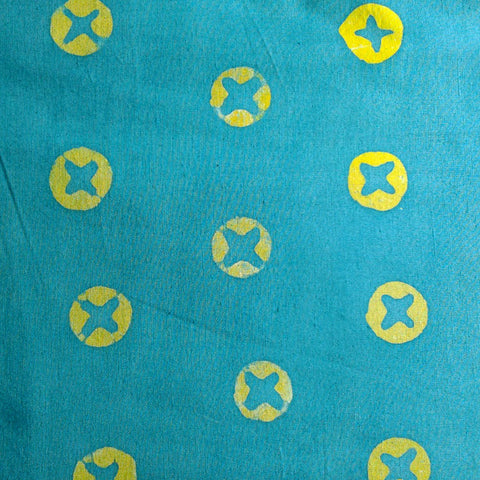 Batik - Teal Mustard Plus - Fabric - Craft De Ville - Craft de Ville
