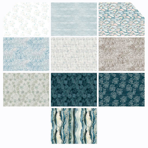 PREORDER DEC - Shell Rummel - Time & Tide - Fat Quarter Bundle