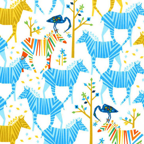 Tamara Kate - Show Your Colors Blue - Fabric - Michael Miller - Craft de Ville
