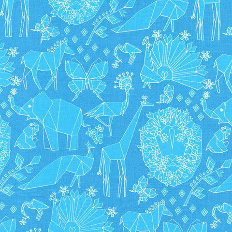 Tamara Kate - Fold Blue - Fabric - Michael Miller - Craft de Ville