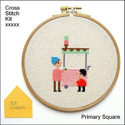 Primary Square Kit - Ice Cream - Kits - Samantha Purdy Textile - Craft de Ville