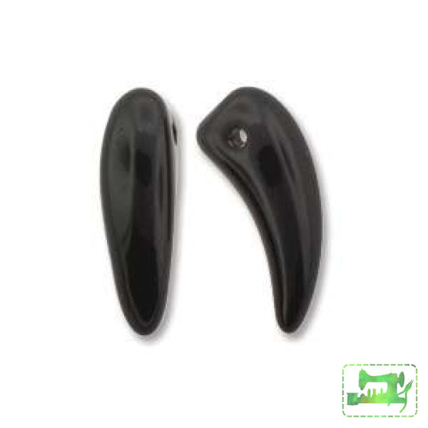 Tooth Beads - 6mm x 16mm - Preciosa - Craft de Ville