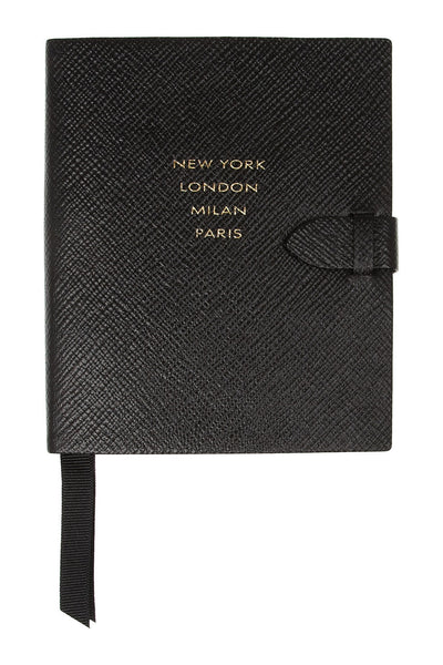 Runway textured-leather notebook