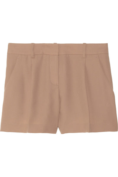 Clah pleated twill shorts