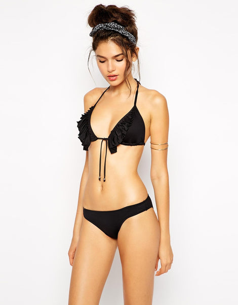 Seafolly Goddess Pleated Frill Triangle Bikini Top