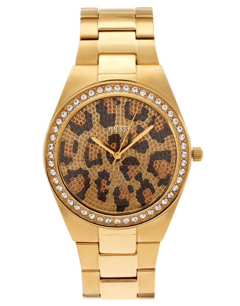 Guess Analog Ladies Catwalk Round Animal Print Watch
