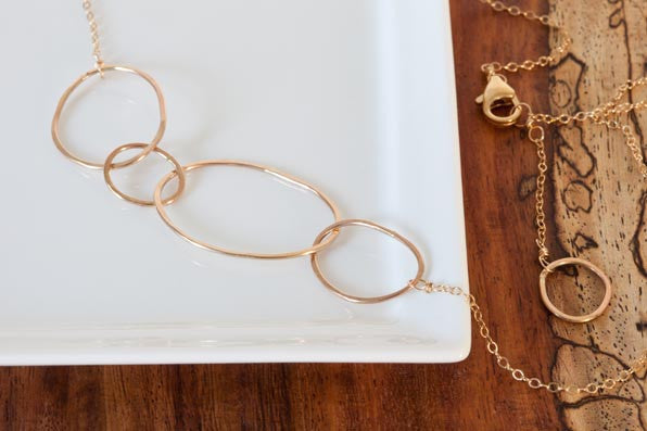 Colleen Mauer Designs - Organic 4 Hoop Necklace