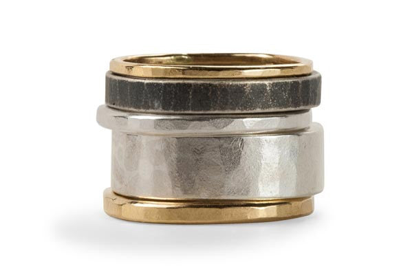 Colleen Mauer Designs - 5 Stack Oxidized Round Densa