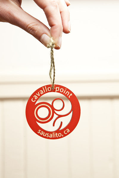 Cavallo Point Logo Laser Wood Ornament