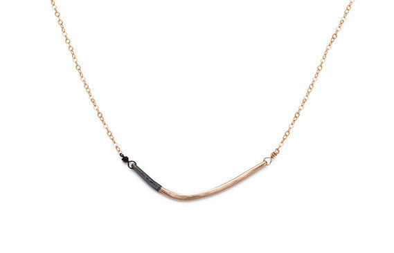 Colleen Mauer Designs - Black & Gold Mini Inflecto Necklace
