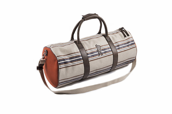 The Packing Man - Duffel Orange Striped Bag