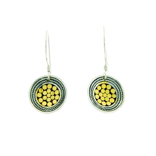Kathy Kamei - Be A Light French Wrap Concave Disk Earrings (Mini)