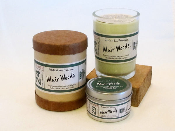 Scents of San Francisco - Muir Woods Violet Leaf & Fir Candle
