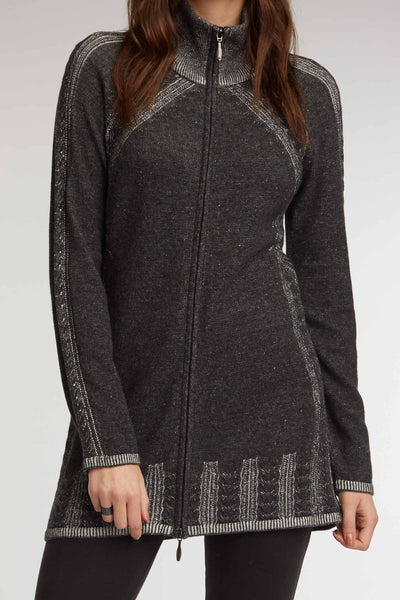 Indigenous Designs Cable Zip Cardigan