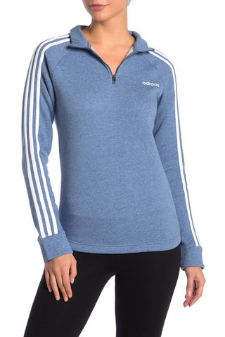 Adidas Marled Knit Partial Zip Jacket