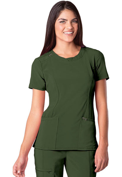Infinity Antimicrobial Round Neck Top by Cherokee