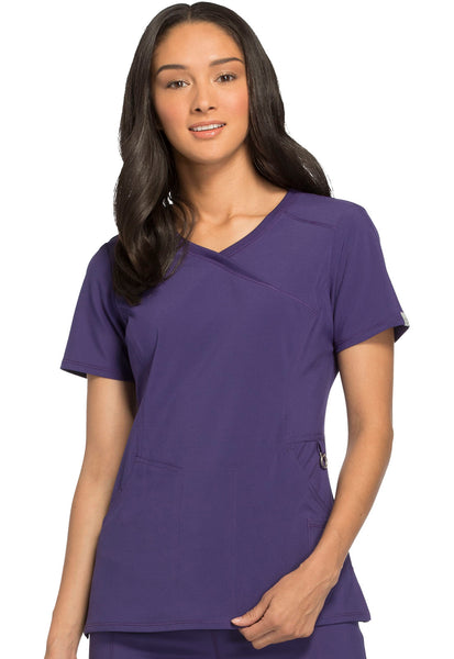 Cherokee Infinity Mock Wrap Women's Top - AA Dietitian