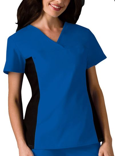 Cherokee Flexibles Knit Panel V-Neck Scrub Top
