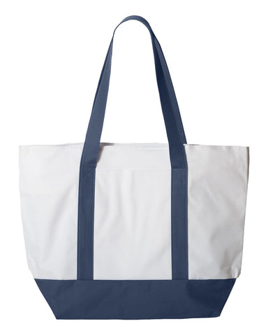 Zippered Canvas Deluxe Tote
