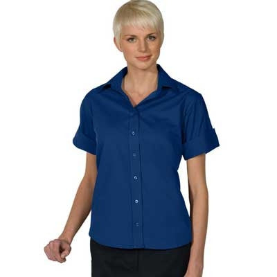 Ladies Short Sleeve Button Down Shirt