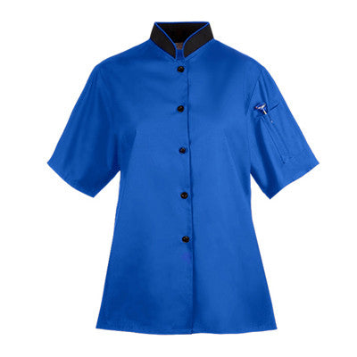 Ladies Euro Style Chef Coat in Royal