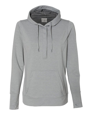 J America Omega Stretch Terry Women's Hooded Pullover